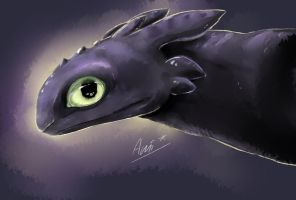 Toothless Speedpaint by Ami-Cat