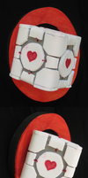 The Companion Cube Pin - TF2 cosplay by VenturertheHybrid