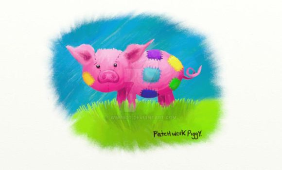 PatchWork Piggy by Wembot