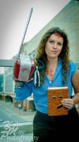 Female Ash (Evil Dead) with Necronomicon by PinkamenaKylie