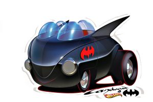 Hot Wheels VW Batmobile toy style by candyrod