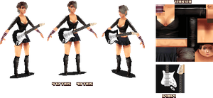Lowpoly Rock Chick - 3d by KennethFejer