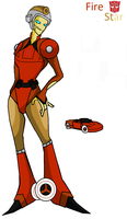 Transformers Prime Fire Star by uniquecomicfreak2580