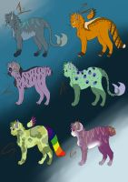 OPEN-Adoptable-Mythological cats-OPEN by danituco