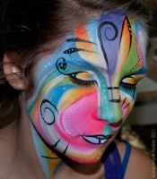 Face painting abstrait 1 by Anne-Marie-Noble-Art