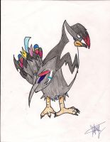 Griffin the Staraptor by pandabear0223