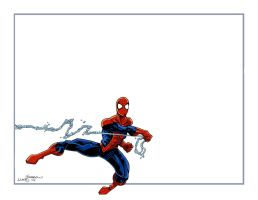 Spider-Man Thank You Card by lukesparrow