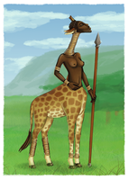 Giraffe woman by Super-kip