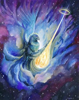Ace of Swords - 78 Astral Tarot by windfalcon
