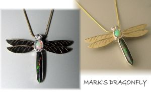 Mark's Dragonfly Pendant by jessa1155