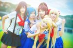 Sailor Moon - School Girls by nyaomeimei