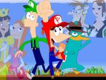 Phineas and Ferb Mario Style by AdvancedDefense