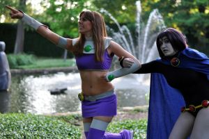 StarFire and Raven - Come Friend by Afallen1