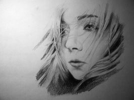 Portrait Drawing by m-o-r-t
