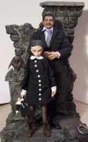 Wednesday and Gomez Addams by cbgorby