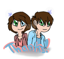 Thanks!! -Elora and Eden- by Glory-daze