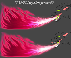 Practice Work: Flame breath maroon/white by StephDragonness