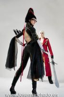 Dante and Bayonetta III by Nebulaluben