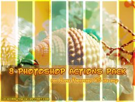 8 Photoshop Actions by LoveCraft02