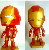 IRONMAN MARK 43 SD PAPERCRAFT by nandablank