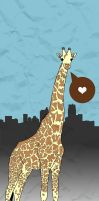 Giraffe Love. by paperairplane