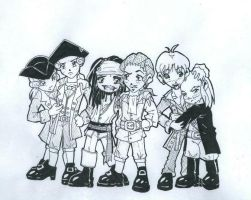Chibi Pirates by The-Ruu