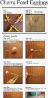 Cherry Pearl Earrings Tutorial by maytel