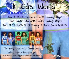 A Kids World Clothing Textures by briarmoon-stock