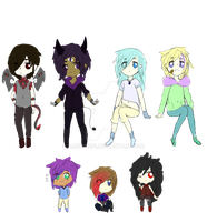 Humanoid sketchy Adoptables Auction #2 (Open 5/7) by Ameah1234