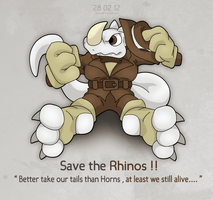 Save the Rhinos ! by OutLeaf