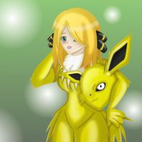Cynthia in Jolteon suit by Vanron