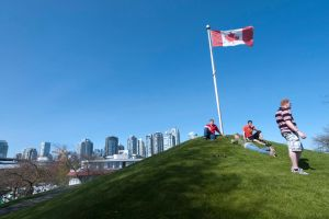 Hill on Granville Island by vanfoto