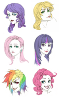 MLP Headshots by AzureStarr