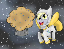 Derpy in space by Luckynight48