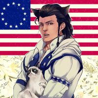 Grumpy Cat and Connor Kenway by Purple-Meow
