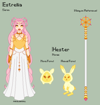 Stardust - Estrellia Reference Sheet + Hester by porcelian-doll