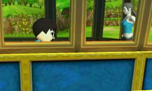 Me and Wii Fit Trainer on train by alvarobmk123
