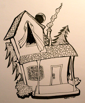 DRAWLLOWEEN 2K15: Haunted House by Reaper-cussion