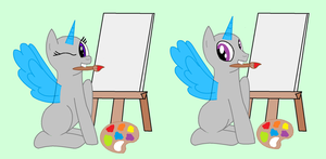 I Can Draw, Mom! (Base #4) by StellarBubbles