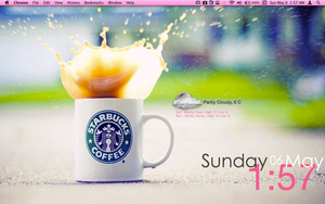 Macbook pro pink starbucks desktop by tunerbarbie
