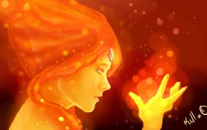 Flame Princess Speedpaint by Killer-Instincts