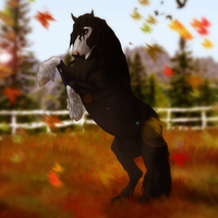 Falling leaves by Thunderfury-studs