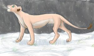 Nala in the snow by LadyAlora