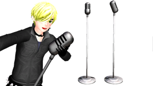 Old School Microphone + Download by FrostyChica