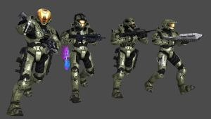 Halo 3 Spartans attack by advancedspartan