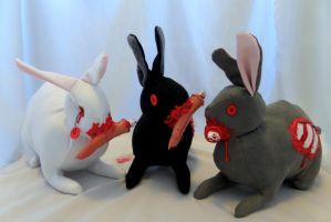 Trio of Zombunnies by IckyDog