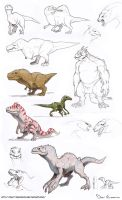 Sketch Dump - Dinosaurs And Dragons And Monsters A by davi-escorsin