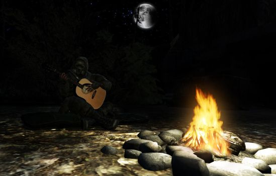 Lonely campfire song by muetank