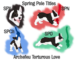 Spring Pole Titles for Wallee by CactusFlowerKennel