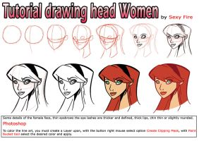 Tutorial  drawing head women by sexfire